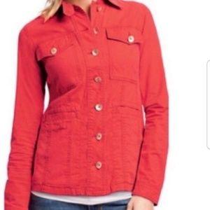 Cabi Taylor Ruffle Hem Jacket Size M